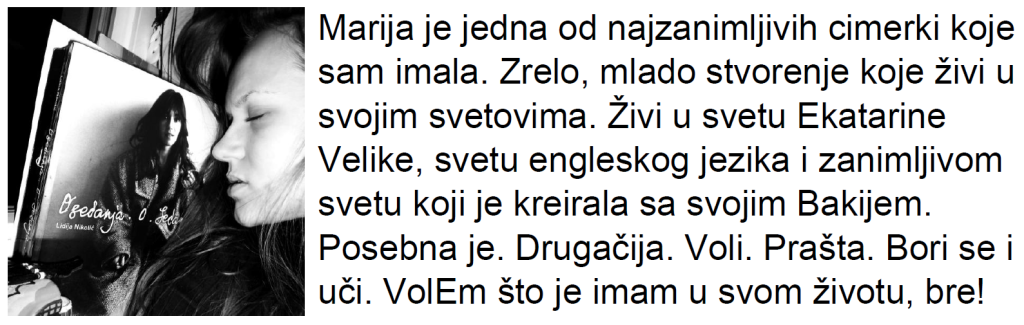 Konzumiraj život_Marija Miletić