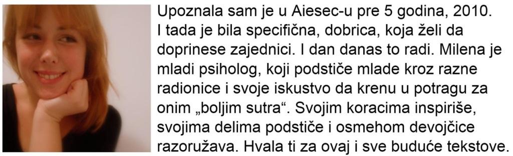 Konzumiraj život_Milena Milošević